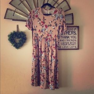Floral Orange Creek Midi Dress